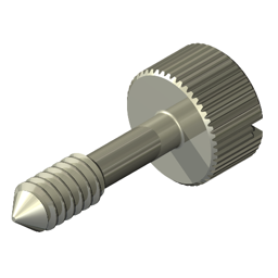 21//32 18-8 Stainless Steel Captive Panel Screw with 6-32 Thread Size and Knurled Head Type