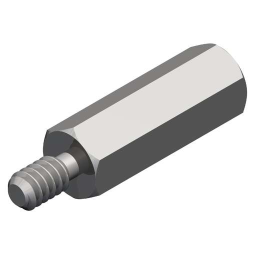 10-32 Screw Size Lyn-Tron 1.375 Length, Pack of 5 0.312 OD Female Clear Iridite Aluminum