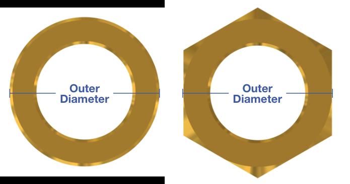 Standard Spacer Metric Spacer Outer Diameter