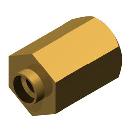 Standard Swage Spacer Metric Swage Spacer Brass Hexagon