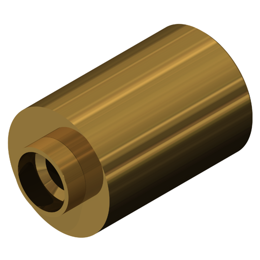 Pack of 5 Lyn-Tron 0.625 OD Brass Female 3//8-16 Screw Size 2.625 Length, Zinc Plated